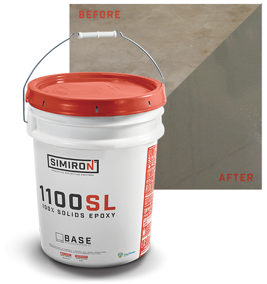 Simiron 1100sl 100 solids self leveling epoxy floor for 100 solids epoxy floor paint