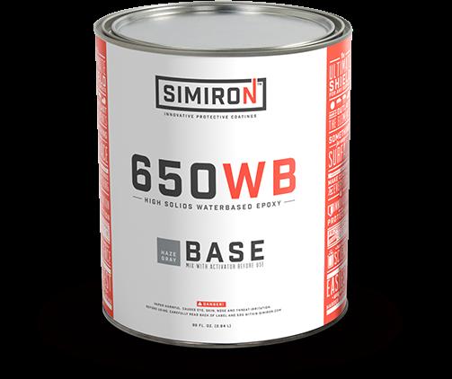 Water Resistant Epoxy : Simiron wb water based polyamine epoxy floor coating